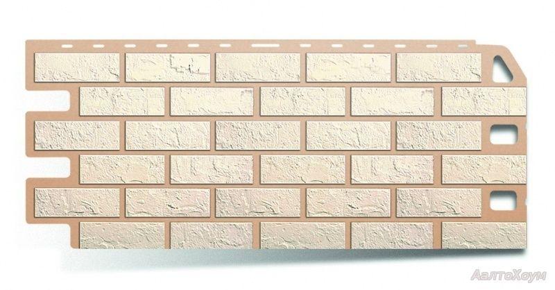 Фасадные панели Белый кирпич