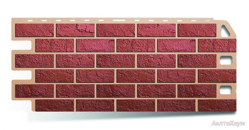 Фасадная панель Красный кирпич